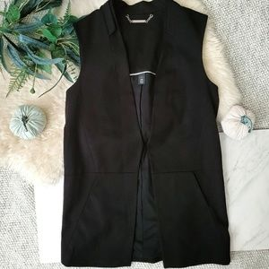 White House Black Market Black Sleeveless Blazer